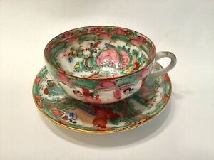 Rose Medallion Cup Saucer Set S P C T Japanese Porcelain Ware Hong Kong