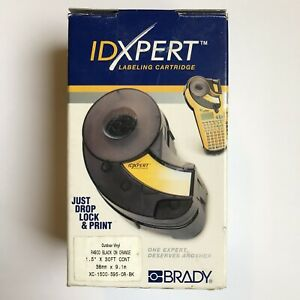 Brady Xc 1500 595 or bk Idxpert 1 5 X 30ft Cont Black On Orange Vinyl