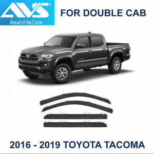 Avs Rain Guards In channel Vent Visor Fits 2016 2019 Tacoma Double Cab 194768