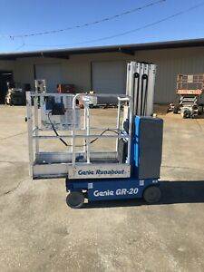 2010 Genie Gr20 Drivable One Man Lift Electric Scissor Boom Jlg Skyjack 20mvl