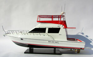 Hand Crafted Silverton 42 Convertible Model Yacht