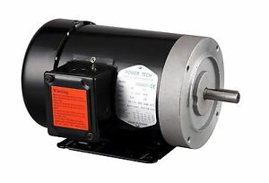 1hp Electric General Purpose Motor 56c 5 8 3 Phase 230 460v 3600rpm tefc