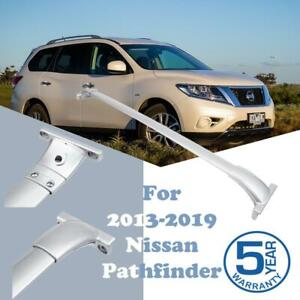 For 2013 2019 Nissan Pathfinder Top Roof Rack Cross Bars Cargo Carrier Silver