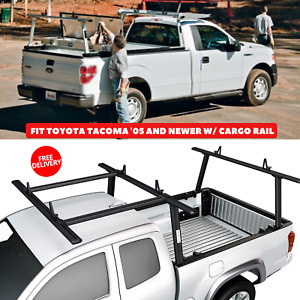 Aluminum Pickup Truck Ladder Rack With Cantilever Extension To Fit Toyota Tacoma