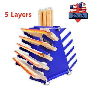 Us Stock Screen Printing Squeegee Spatulas Holder Desktop Shelving Tool Rack