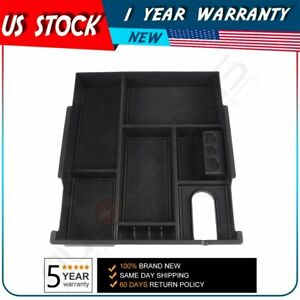 Center Console Organizer Removable Armrest Storage Box For 14 18 Toyota Tundra