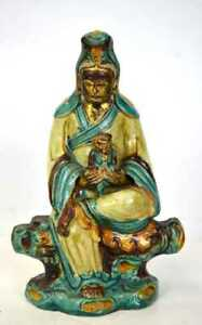 Chinese Sancai Glazed Guanyin Figure Ming Dynasty