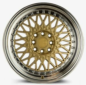 Aodhan Ah05 16x8 15 4x100 4x114 3 Gold Wheels Fits Integra Civic Miata E30