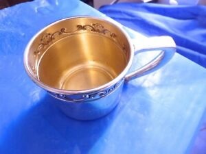 Antique Sterling Silver By Gorham Silver Mug Monogram Annessa Cup