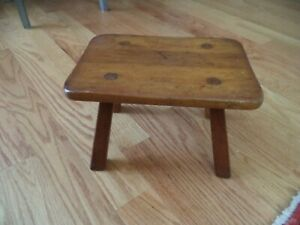 Antique Cushman Wooden Cricket Bench Foot Stool Nice Color