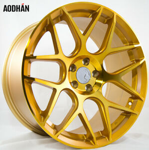 Aodhan Ls002 18x8 35 5x114 3 Gold Machined Civic Si Accord S2000 Crz Prelude