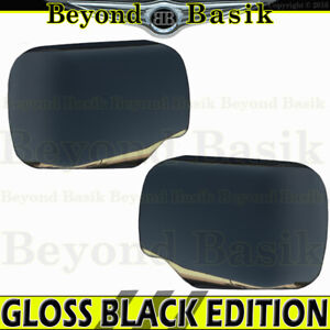 For 2004 2015 Nissan Titan Armada Gloss Black Mirror Covers Trims Non Towing