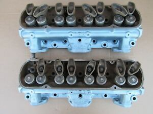 1967 Pontiac 326 140 Cylinder Heads Pair Firebird tempest lemans Engine 350 Oem