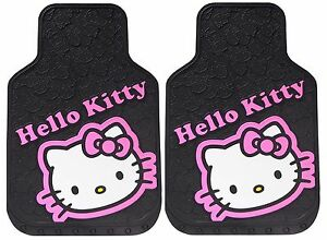 Hello Kitty Car Floor Mats Rubber Set Liners Girls Cargo Interior Auto Truck Suv