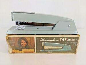Vintage Swingline Stapler 747 Gray With Box Grey Used Excellent
