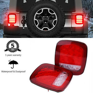 1pair 16 Led Universal Stop Tail Turn Signal Backup Light Lamp For Wrangler Jeep