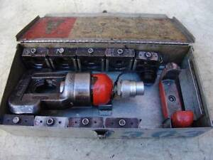 Thomas Betts 12 Ton Hydraulic Crimper Loaded With Dies Works Fine 1