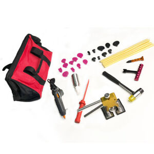 32pc Paintless Dent Repair Tools Auto Body Dent Lifter Puller Hammer Removal Kit