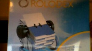 Rolodex Open Rotary Business Card File A To Z Indexed Tabs And 200 Card blue