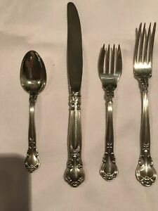 Gorham Chantilly 4pc Place Setting S Sterling Silver No Mono Vintage