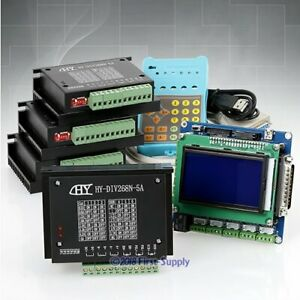 Cnc 4 Axis Kit 5axis Breakout Board Display keypad Tb6600hg Drivers Router Mill