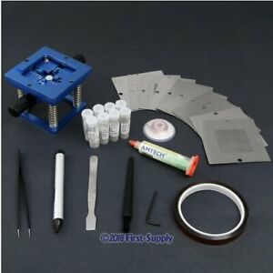 Bga Kit 1 Reball Station 10 Universal Stencils 1 Flux Paste Soldering Tool