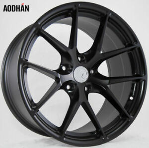18x8 Aodhan Ls007 Rims 5x112 35 Matte Black Wheels Fits S Class 350 600 E63 Amg