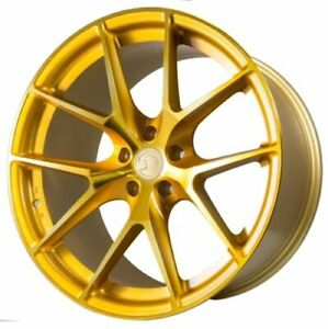 Aodhan Ls007 18x8 35 5x114 3 Gold Mazda 3 Lancer Eclipse Camry Supra Is300