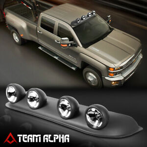 Clear Roof Mount Universal 4x4 Off Road Fog Light Driving Lamp W Switch Harness