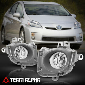 Fits 2010 2012 Toyota Prius Clear Bumper Fog Light Lamp W Switch Harness Bezel