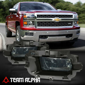 For 14 15 Silverado sierra 1500 Smoke Lens Fog Light Lamp W switch harness bezel
