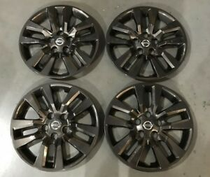 1 Set Nissan Altima Hubcaps Wheel Covers 2013 2016 16 Midnight Black 53088 1