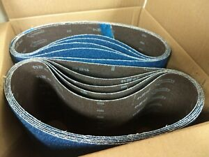 Blue Zirconia 8 X 29 5 24 Grit Floor Sanding Belts Hummel Lagler box Of 10
