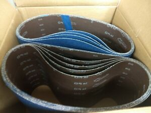 Blue Zirconia 8 X 29 5 40 Grit Floor Sanding Belts Hummel Lagler box Of 10