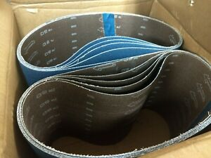 Blue Zirconia 8 X 29 5 60 Grit Floor Sanding Belts Hummel Lagler box Of 10