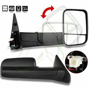 Power Heated Side Mirrors Fit 2002 08 Dodge Ram 1500 2003 09 2500 3500 Tow Pair