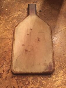 Vintage Primitive Wood Bread Cutting Board Farmhouse