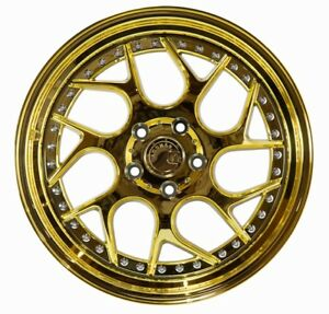 Aodhan Ds01 18x8 5 35 18x9 5 30 5x114 3 Gold Vacuum Is300 Is250 Supra Rx7 Rx8