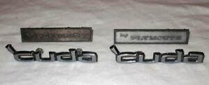 Mopar Plymouth Cuda Door Panel Emblems by Plymouth Rear Tail Panel Emblems