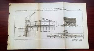 1898 French Map Diagram Of Warehouse For Trading Seaports In Amsterdam