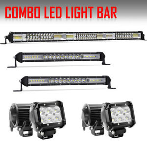 32inch 1372w 2x Slim 12in 4x 4 Cree Led Light Bar Combo For Offroad Truck Atv