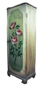 Vintage Wooden Cabinet Small Cupboard Buffet Shabby Chique Roses Romantic
