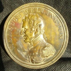Memorial Brass Box With Portrait Of Marquis Wellington Spain 1814