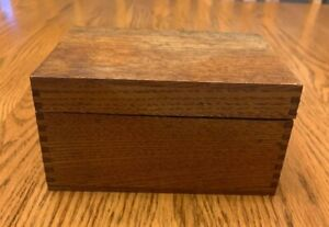 Vintage Hand Made Wood Small Box Brass Hinges