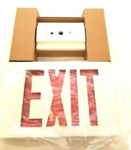 Lithonia Lighting Led Emergency Exit Sign White Die Cast Le S W 2 R 120 277