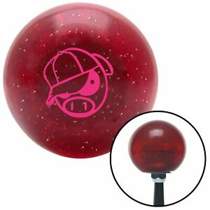 Pink Rally Pig Red Metal Flake Shift Knob Usa Shifter Auto Manual Jdm Gear Drag