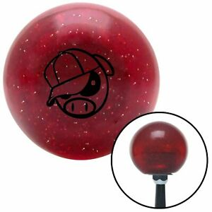 Black Rally Pig Red Metal Flake Shift Knob Usa Shifter Auto Brody Hurst Jdm Car