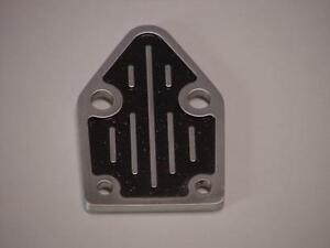 Small Block Chevy Aluminum Fuel Pump Block Off Plate With Hardware
