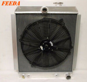 2 5 Core Aluminium Radiator 16 Fan For 1947 1954 Chevrolet Truck 3 5 3 8 L8
