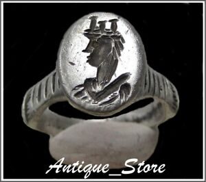 Women Engraved Ancient Silver Roman Ring Amazing